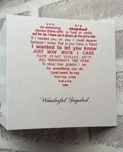 Step Dad card for Birthday, Father's Day or Christmas