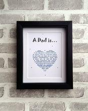 Dad Gift - Superhero Poem - Unframed 10x8