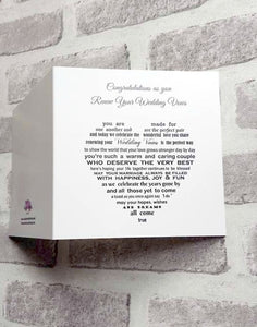 Vow Renewal card