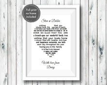 Brother & Sister in Law Gift - Unframed Personalised Print