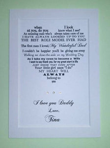 Father of the Bride gift
