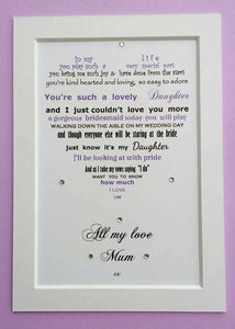 Daughter of the Bride gift