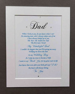 Father of the Bride gift from Daughter