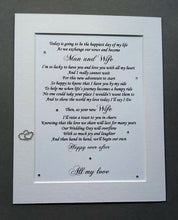 Husband to be Wedding Gift from Bride
