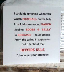 Valentine - Funny card for Football Lover