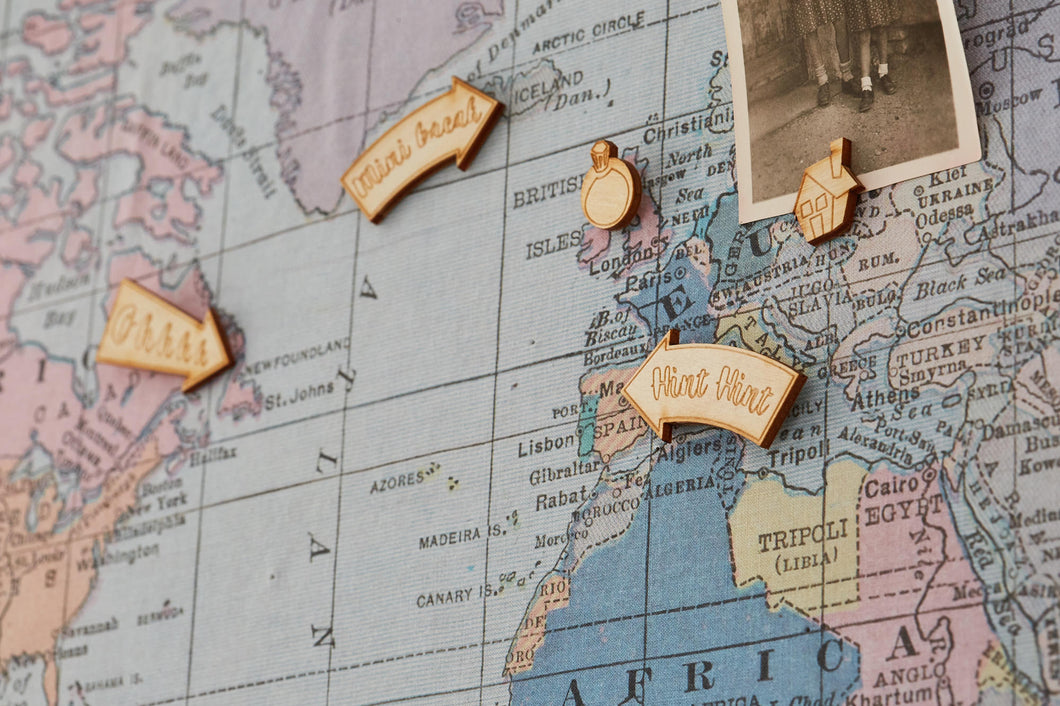 Wooden mixed map pinsmagnets the crafty traveller wooden mixed map pinsmagnets gumiabroncs