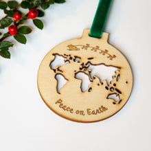 Peace on earth Christmas bauble