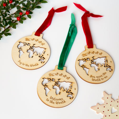 Set of 3 Christmas baubles- set 2
