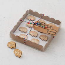Wooden bus pins/magnets