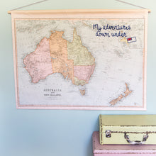 Personalised Australia hanging map