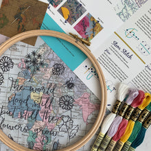 The world stood still embroidery kit