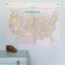 Personalised USA hanging map