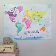 Little explorers club childrens hanging map