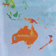 Personalised childrens world map
