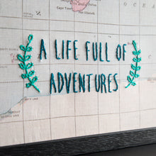 A life full of adventures world travel map