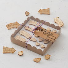 Wooden mixed map pins/magnets