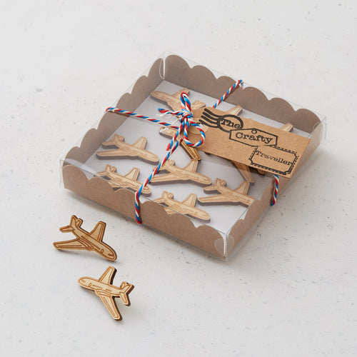 Wooden plane pins/magnets