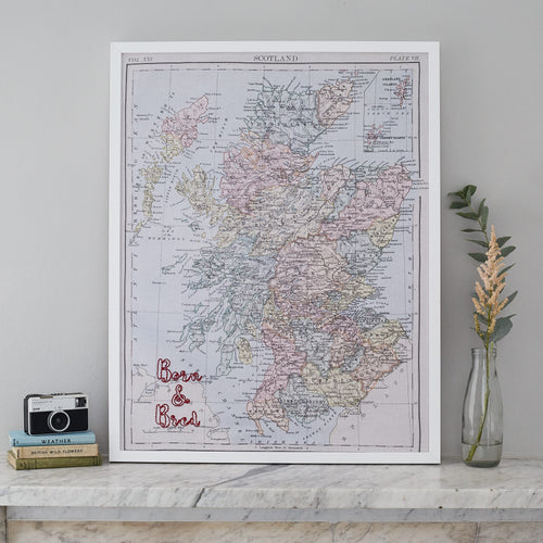 Personalised Scotland map