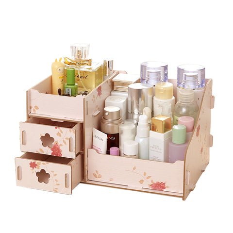 Cosmetics Accessories Wooden Storage Box