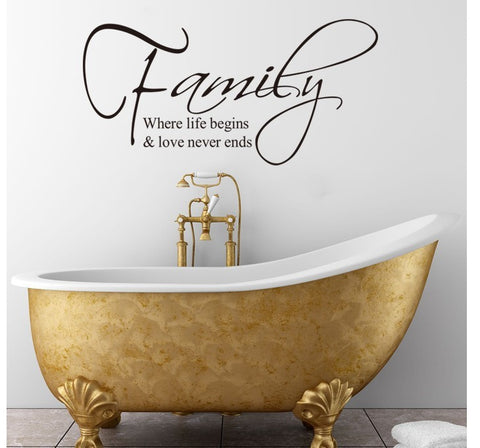 Wall Decal Quote Removable Adhesive Vinyl Wall Sticker
