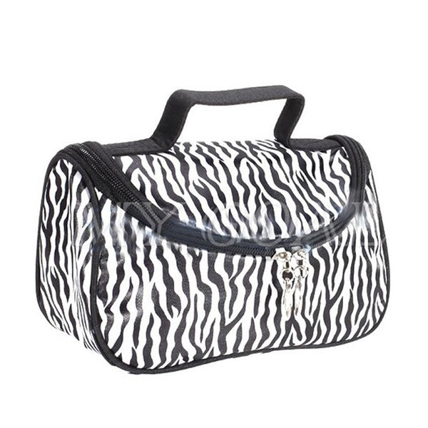 Cosmetics Zebra Print Nylon Makeup Storage Bag