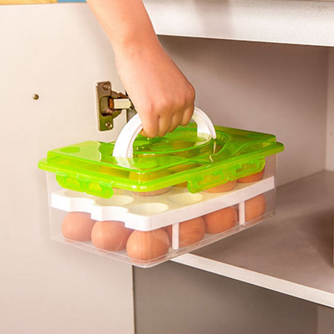 24 Egg Container with Handle
