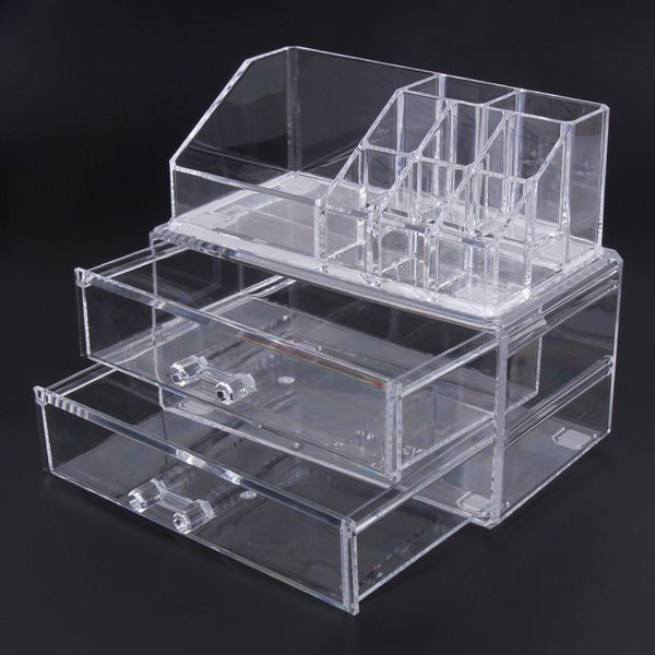 Acrylic Clear Makeup Organizer Storage Box