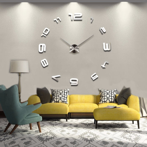 Wall Sticker 3D Clock Decal
