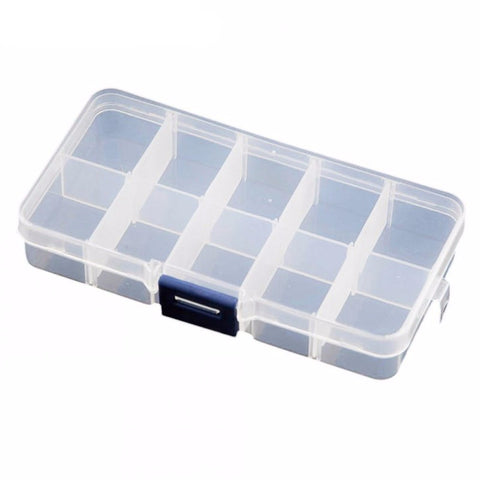 Clear Plastic 10 Slot Box