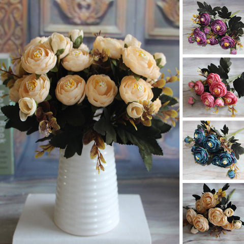 Artificial Peony Silk Flower Bouquet