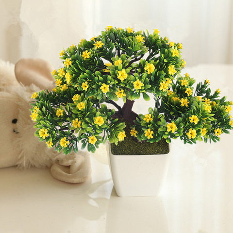 Artificial Potted Bonsai Flower Plant