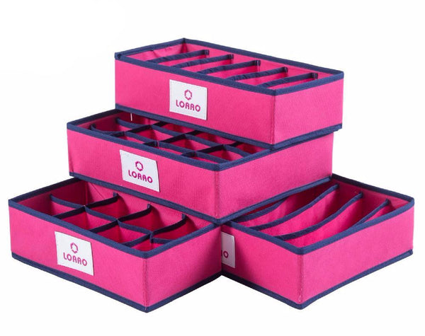 Foldable Storage Organizer Box Case - 4 sizes/set