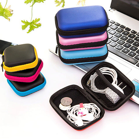Earbuds Cables Storage Case Container