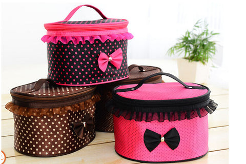 Cosmetics Makeup Round Storage Case