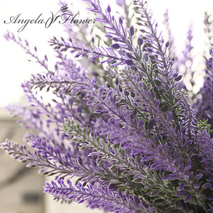 Artificial Silk Lavender Ferns