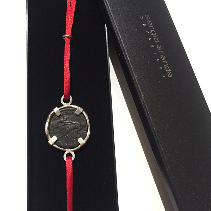 Bracelet with Roman coin