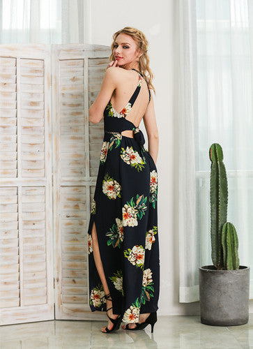 Salma | Backless Split Maxi Dress