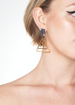 DETACHABLE GLASS CRYSTAL TRIANGLE EARRINGS