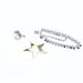 DETACHABLE GLASS CRYSTAL BLOSSOM WITH PEARL EARRINGS