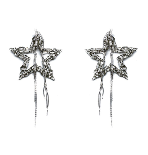 DISCO STAR FRINGE EARRINGS