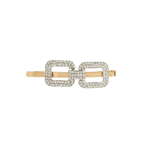 SQUARE CRYSTAL EMBELLISHED HAIR CLIP