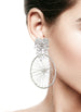DETACHABLE WHEEL DROP HEART SHAPED GLASS CRYSTAL EARRINGS