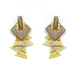 SQUARE STUD LAYERED DROP EARRINGS