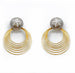 DETACHABLE STAR STUD  GOLD HOOP EARRINGS