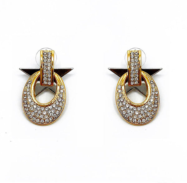 DETACHABLE STAR GLASS CRYSTAL EARRINGS