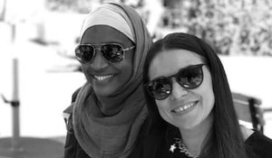 Picture of Women wearing hijab (Left) and women in glasses (right)