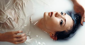 Picture of woman in bath tub
