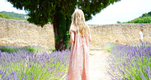 Picture of woman standing in lavender field