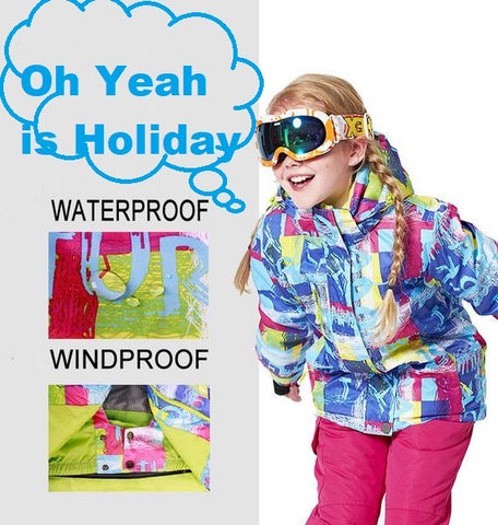 Happy Holiday Children Snow Jacket + Pants 090219