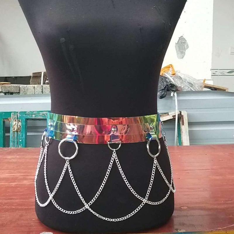 Creative PVC Chain Belt 311218